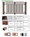 fácil de instalar suelo balcón compuesto plástico de madera muebles de madera de plástico compuesto paneles de la cerca