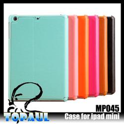 custom color Flip Leather cases for ipad mini silicone case