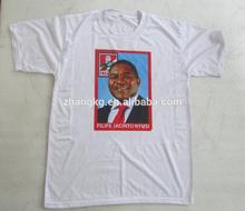 Blank plain t shirt sa for election t shirt sale,custom you want own logo printing
