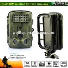 Wireless Solar Security Waterproof Trail Infrared Camera Detector, 120 degree total PIR sensor angle