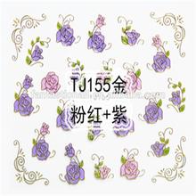 Nail Art Purple Rose 3D Flower Nail Sticker Flower Design 3D Nail Art Sticker