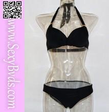 Simple fashion black hot sex girls photos bikini