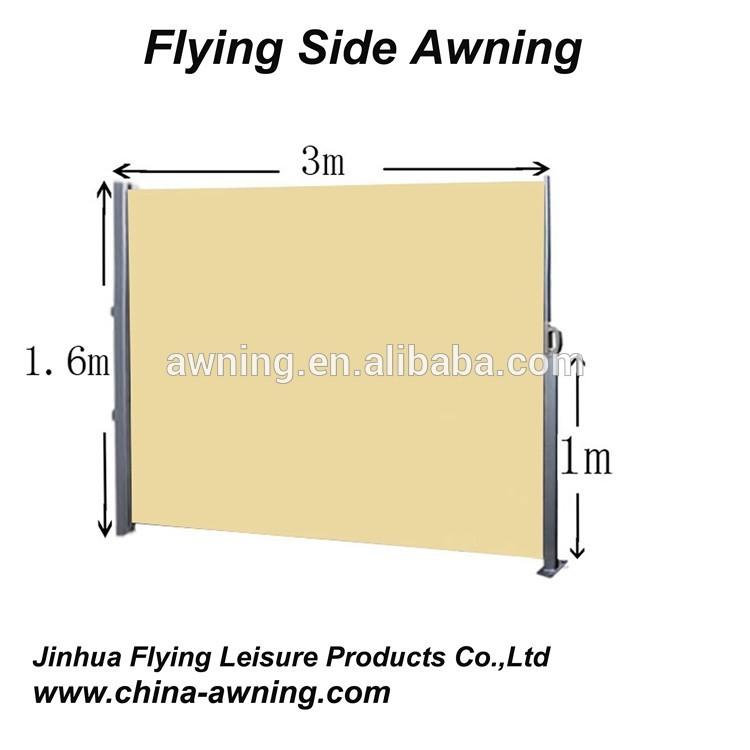 outdoor versenkbare windschutz seite markise f r balkon. Black Bedroom Furniture Sets. Home Design Ideas