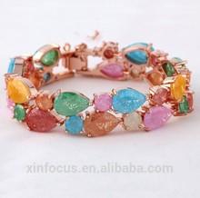 New Arrival !!! Colorful Cubic Zircon Bracelet and Bangle Brass Bracelet Cham Bangle Fashion Jewlery