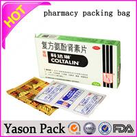 Yason a new export custom chinese tea bag/herbal medicine tea packing bag customizable medicine ziplock bags adhesive paper medi