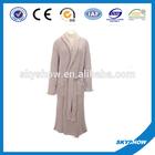 wholesale in china 100% cotton velvet embroidered bathrobe