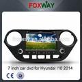 """7"""" da tela de toque de peças do carro para hyundaii10 2014 dvd player com navegação gps dvd radio bluetooth usb sdipod"""