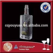 Bulk wholesale high flint 500ml glass bottles for liquor