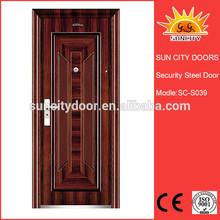 60 minutes exterior steel fire rated wooden door SC-S039