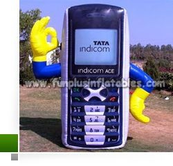new advertising inflatable phone/giant inflatable mobile phone for promotion P4002