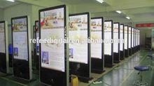 42/55/65 Inch floor standing kiosk high brightness Advertising Player