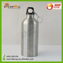 Travel Partner 400ml Water Botter Aluminum Sport Bottle with Lid & Carabiner