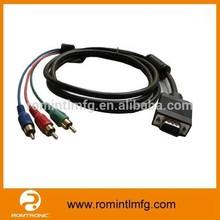 High Quality Red Green Blue VGA to RGB Adapter RCA to VGA Converter
