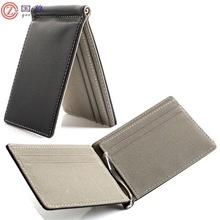 Genuine Mens Real Leather Thin Wallet Money Clip Credit Card