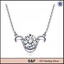fashion accessories for girl pure silver chain necklace