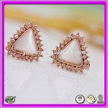 Fashion popular new Triangle opal with diamond earrings