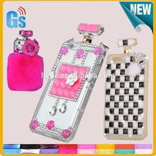 Bling bling sex perfume imitation bottle case with chain handbag for Iphone 6
