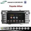 din 2 android de audio del coche del coche del sistema de radio dvd con la navegación gps para toyota hilux