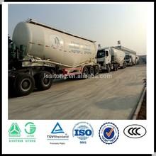 35 CBM-75 CBM bulk cement semi trailer ,powder tanker semi trailer export to Africa