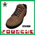 Zapatos de seguridad ligeros de corte alto y suela de goma marrón