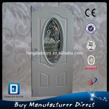 Fangda beveled glass door oval glass insert front door designs
