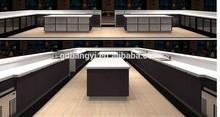 2015 deep black style paint white quartz club bar table open model kitchen cabinet kitchen furniture