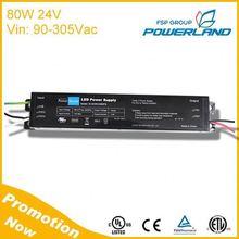 UL Apporved 80W 110V 220V Ac 24V Dc Switching Power Supply