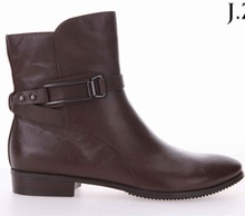 OB06 brown color 6 inch sheepskin walmart ankle buckle boots