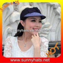 Wholesale ladies summer wide brim sun visor cap