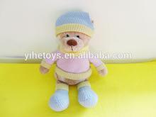 "Plush Stuffed Toy Bear with T-shirt 11"""