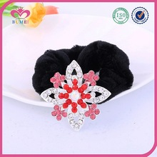 Red alloy flower hair jewelry with China A stone