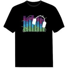 custom design sound activiated LED T-Shirts, sound active t shirts