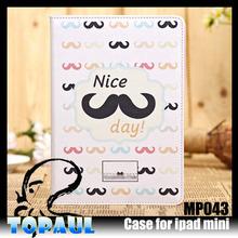 cute carton Flip folding stand leather case for ipad mini