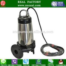 NSWQ 65-32-5.5 Nylon electrophoresis paint 5hp pump submersible trap sewage pumps
