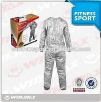 Wholesale sauna sweat suit/ PVC Sauna Suit for Adult/vinyl slim sauna suit