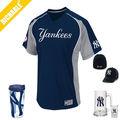 2015 impression personnalisée Yankees Logo homme 3/4 manches Raglan Polyester et coton T-Shirts
