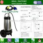 NSWQ 50-20-15-2.2 Nylon electrophoresis paint float switch submersible sewage pump