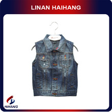 China best manufacturer boys denim vest