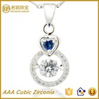 Silver Pendant Inlaid Zircon for UK Bridal from Jewellery Wholesale