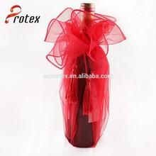 Top qualidade barato promocional mini bonito garrafa de vinho organza bag