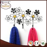 Beautiful Decorative Flower Design Black Metal wire hanger