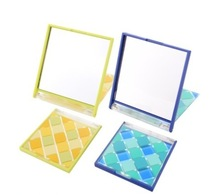 2015 New lighted makeup mirror walmart/hollywood mirror and foldable three sided mirror