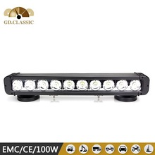 wholesale 17 inch 100 watt auto led light bar motorcycle accessories