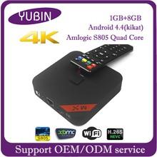 Full hd 1080p support wifi and bluetooth s805 quad core greek iptv set top box