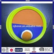 China manufacture bulk cheap beach velcro racket throw velcro catch ball
