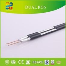 500' Siamese Dual RG6 RG-6 Coax Coaxial Video Cable Satellite RG6 RG-6 Dual Coaxial Coax Video Cable Indoor coaxial cable rg6u