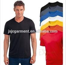 Bulk buy clothing,2015 summer new fashion mens slim fit v-neck t-shirt,wholesale blank t shirt made in china