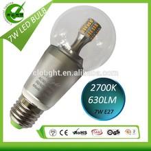 edison style led bulb 7w e26 e27 dimmable 110/220VAC super bright
