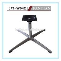 W042 metal polished swivel aluminium chair base for sale