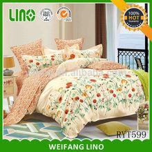 aplic work bedding set/twill bedspread sets/hotel bed linen